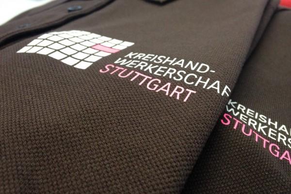 Poloshirts bedruckt mit 2 farbigen Flexdruck